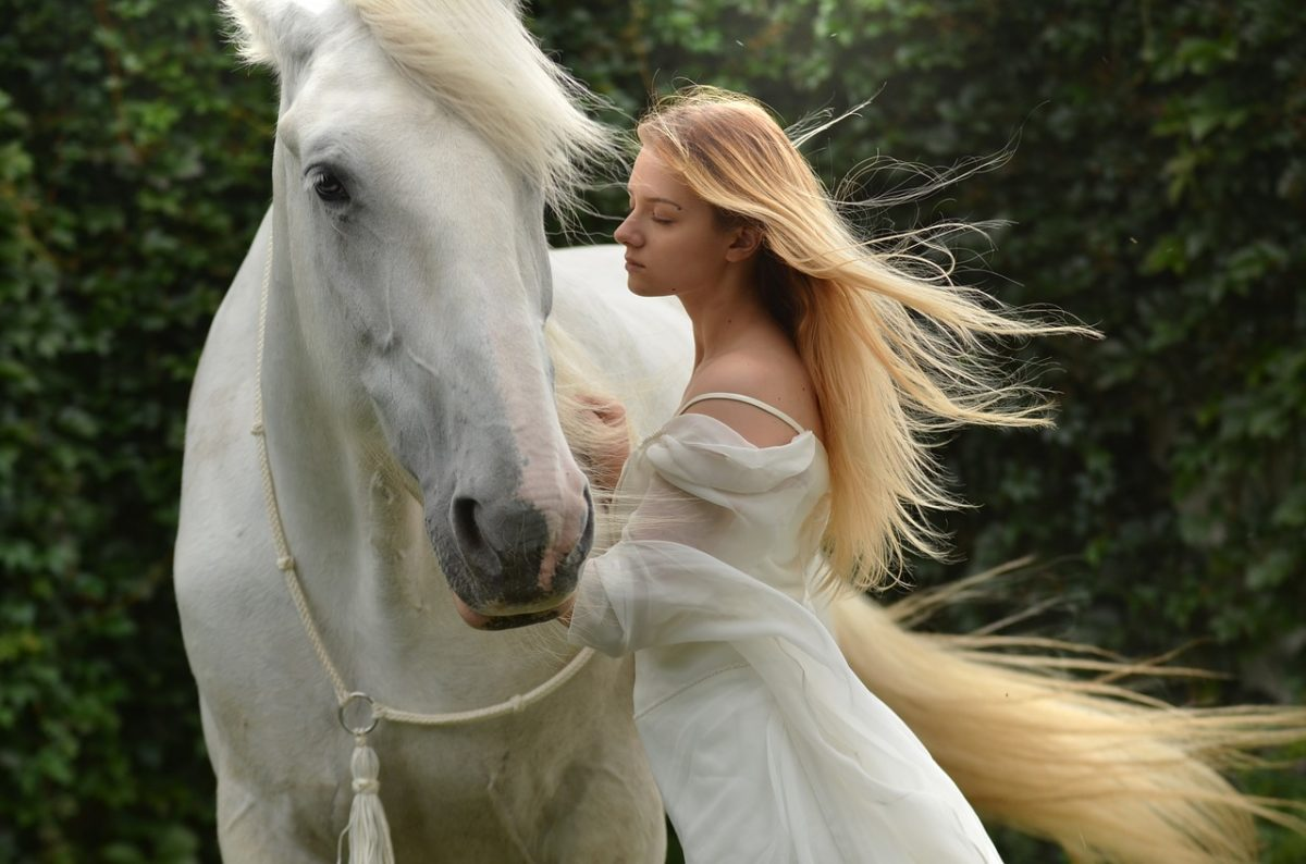 woman&horse